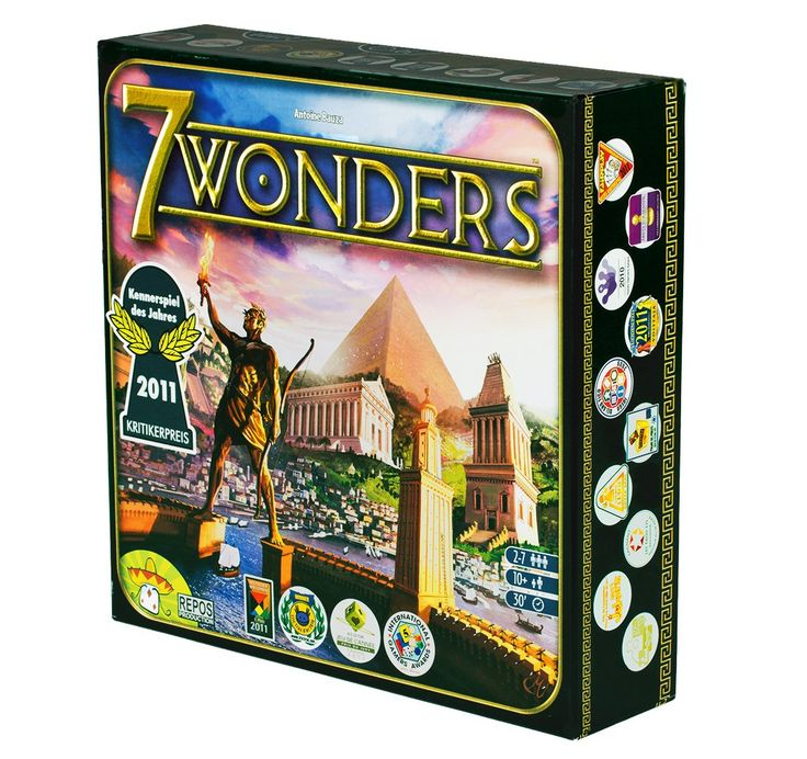 7 Wonders - 3-7 players - Play as one of 7 ancient societies, trying to leave your mark on the world