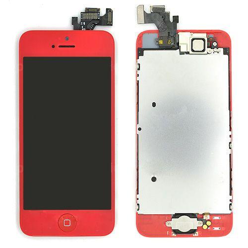 iPhone 5 Vitre tactile Rouge et écran LCD incell prémonté avec châssis complet