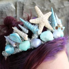 Give your mermaid costume an extra special touch with this handmade mermaid tiara.