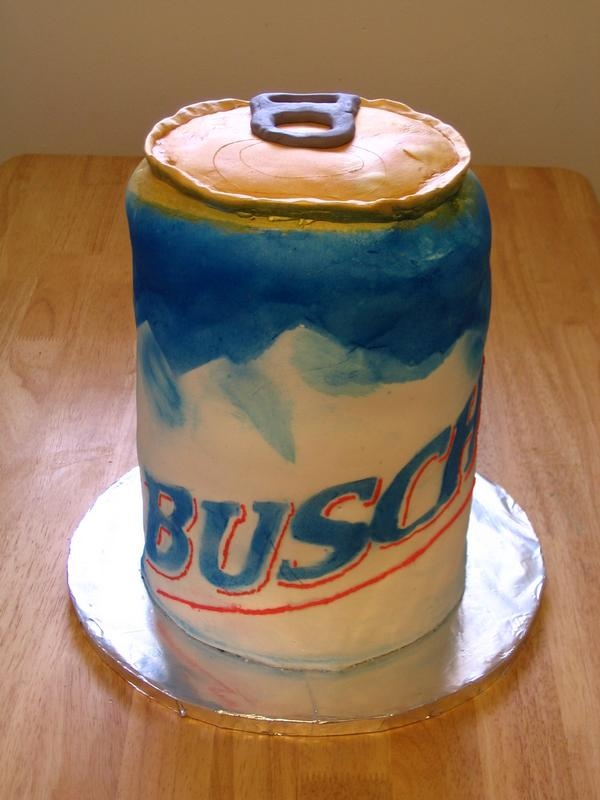 Busch Beer Can Cake-- for t grant