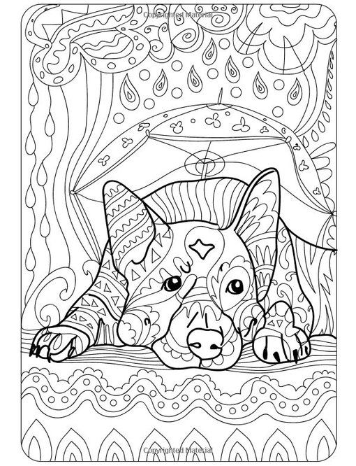 free printable dog coloring pages for adults | Cute Dog colouring page I Art Therapy I VK | Cats ~ Dogs ...
