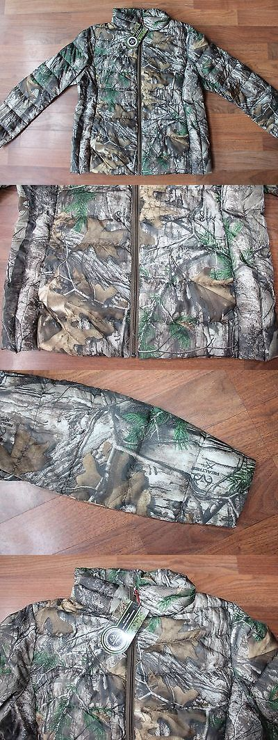 Coats and Jackets 177868: Womens Realtree Xtra Lrg 42 44 Packable Down Jacket Camo Camouflage Hunting Coat BUY IT NOW ONLY: $40.0
