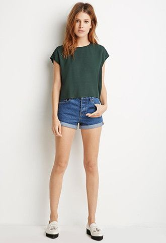 Textured Woven Boxy Top | Forever 21 | #thelatest