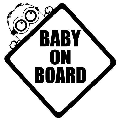 Minion baby on board decal by uniquevinylcreation on etsy