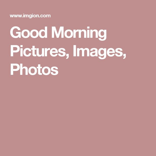 Good Morning Pictures, Images, Photos