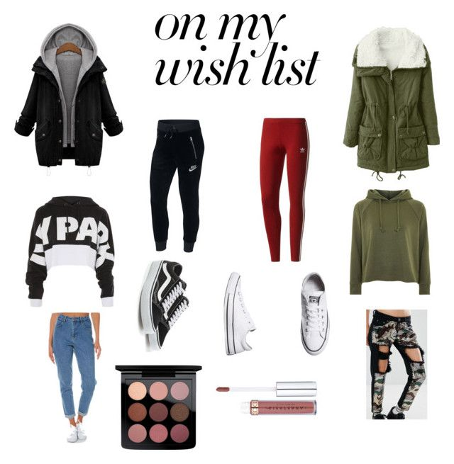 """""""#PolyPresents: Wish List"""" by jasmimosa on Polyvore featuring Ivy Park, Topshop, Wrangler, Liquor n Poker, NIKE, adidas Originals, Vans, Converse, MAC Cosmetics and contestentry"""