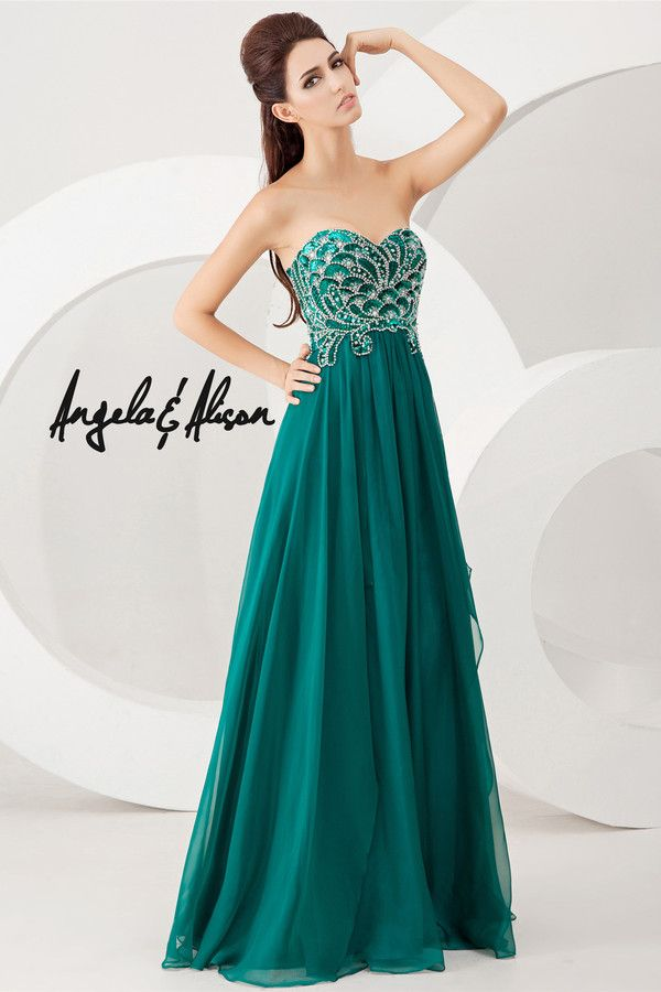 green 2014 prom dress from AE dresses