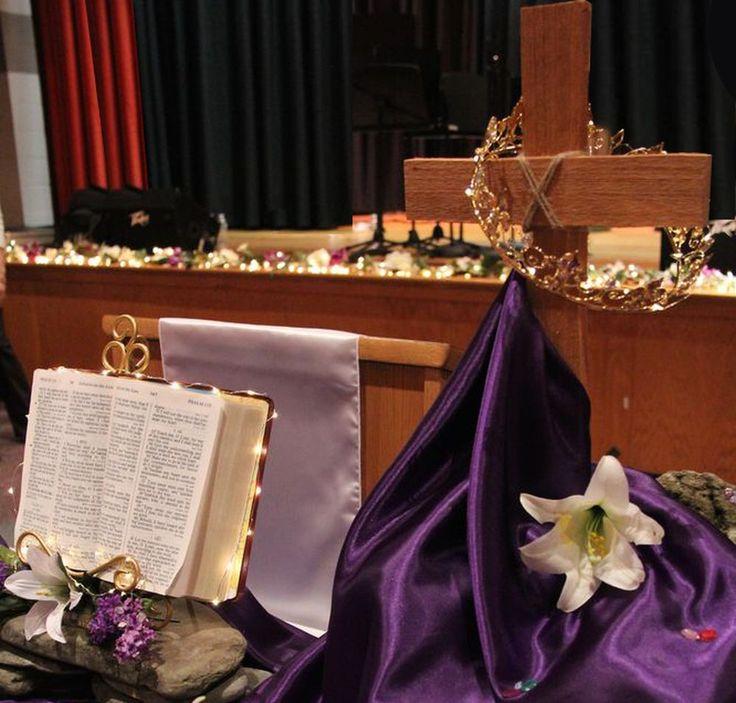 Cross Wedding Altar Flowers: Church Banners & Decorations On