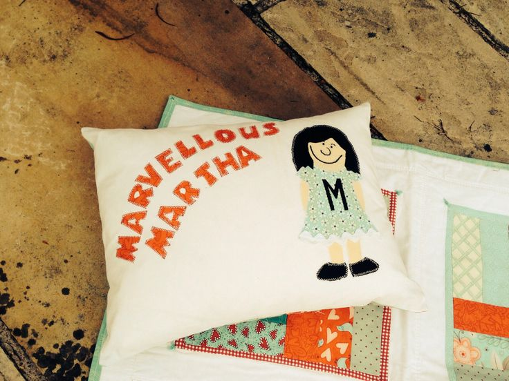 Cushion for my sister Marvellous Martha as in Sesame Street