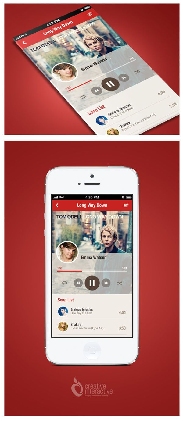 music app Mobile UI Design Inspiration #4