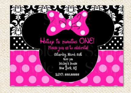 minnie mouse birthday invitations on etsy