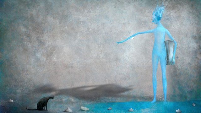 Earth Design Works 2013 animation Director : Kim, Young-jun Assistant Director : Kim, Ji-su Animation : Kim, Young-jun  Kim, Ji-su Music : Ko, Jin-young  Park, Hyun-woo coordinator: Choun, Sang-hyun (picturebook sangsang) Ivo Rosati autor; Gabriel Pacheco illustrator: l'uomo d'acqua e la sua fontana Publication: Zoolibri(Italy)