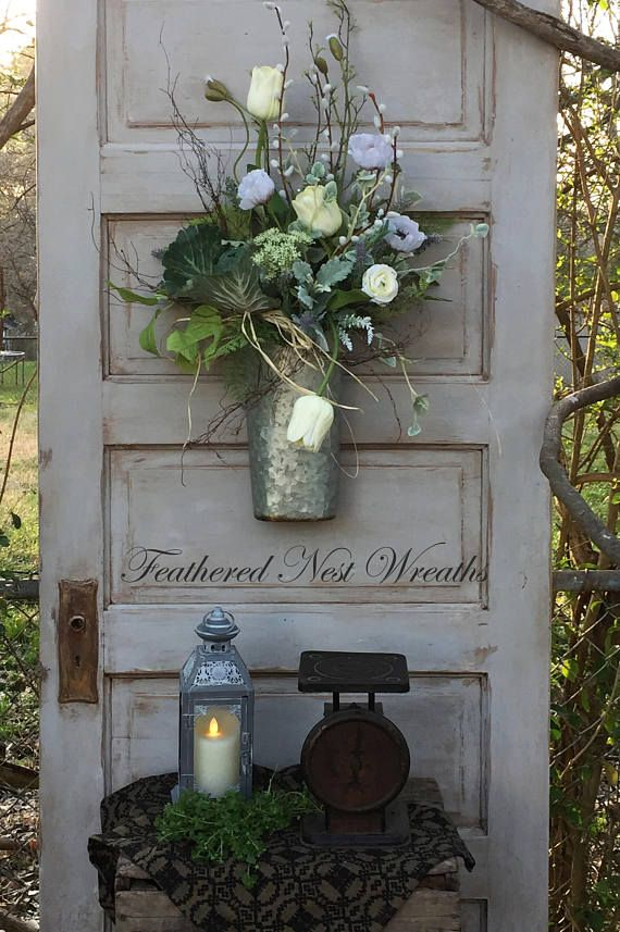 This Farmhouse Chic Style Door Basket Is So Pretty In Its