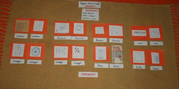 Omonimi, omografi e omofoni col metodo Montessori | Lapappadolce