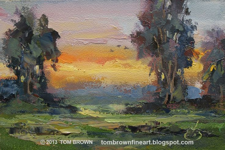 Palette Knife Painters Video Tutorial Colorful Sunset