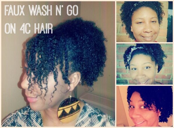 **For my 4C Hair** Faux Wash n' Go on 4C Hair Tutorial - Natural Hair Rules!!! http://www.naturalhairrules.com/faux-wash-n-go-on-4c-hair-tutorial/