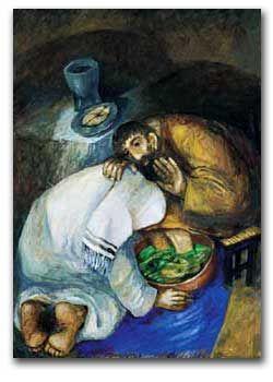 Jesus washing Peter's feet  Sieger Koder  I love his art!