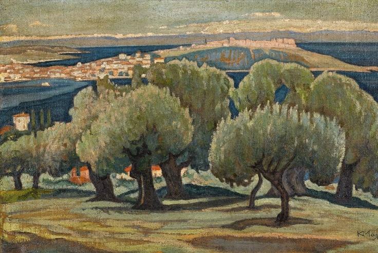 Konstantinos Maleas, Olive trees, Mytilini