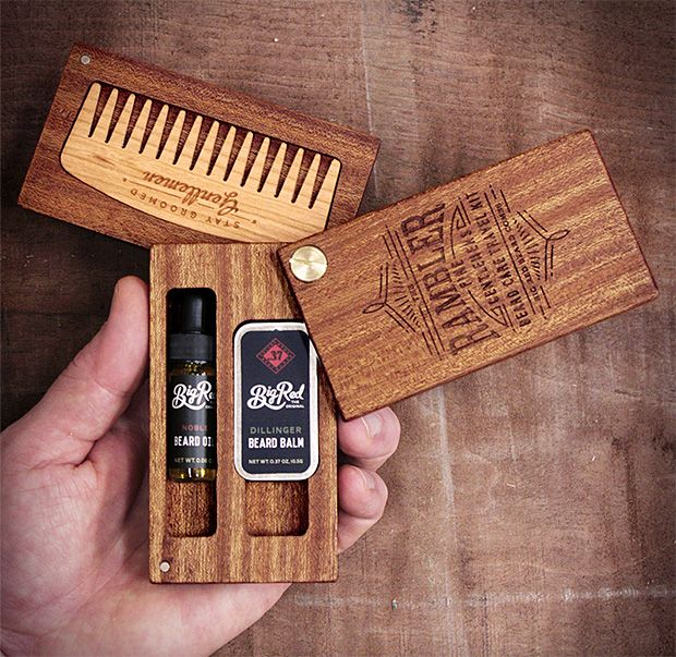 Chubster loves Men Beauty Tips - Men's Skin Care Products - Astuces beauté au masculin ! - Cosmétique homme - Big Red Beard Combs Rambler