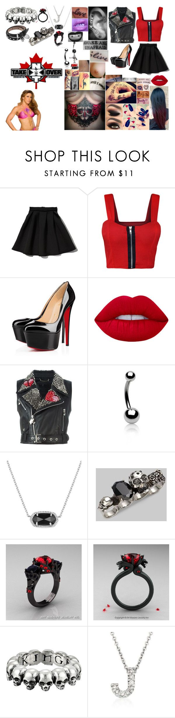 """Walking Mickie James Out To Her Match at TakeOver: Toronto"" by belabmilagres ❤ liked on Polyvore featuring Abercrombie & Fitch, WearAll, WWE, Christian Louboutin, Lime Crime, Lauren Conrad, Philipp Plein, Disney, Bling Jewelry and Kendra Scott"