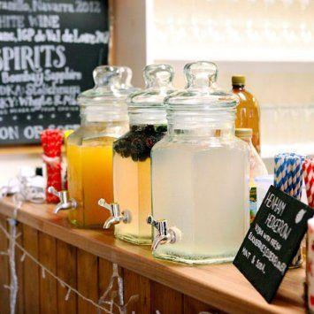 Glass Drinks Dispenser with Stand 197oz / 5.6ltr by bar@drinkstuff   Beverage Dispenser, Juice Dispenser, Punch Dispenser, Lemonade Dispense...