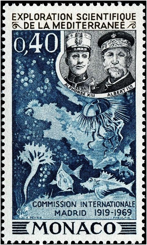 Exploration Scientifique de la Mediterranee, a Monaco stamp issued 1969