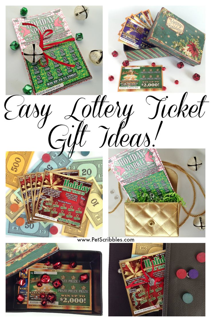 How to Creatively Gift Lottery Tickets for the Holidays!