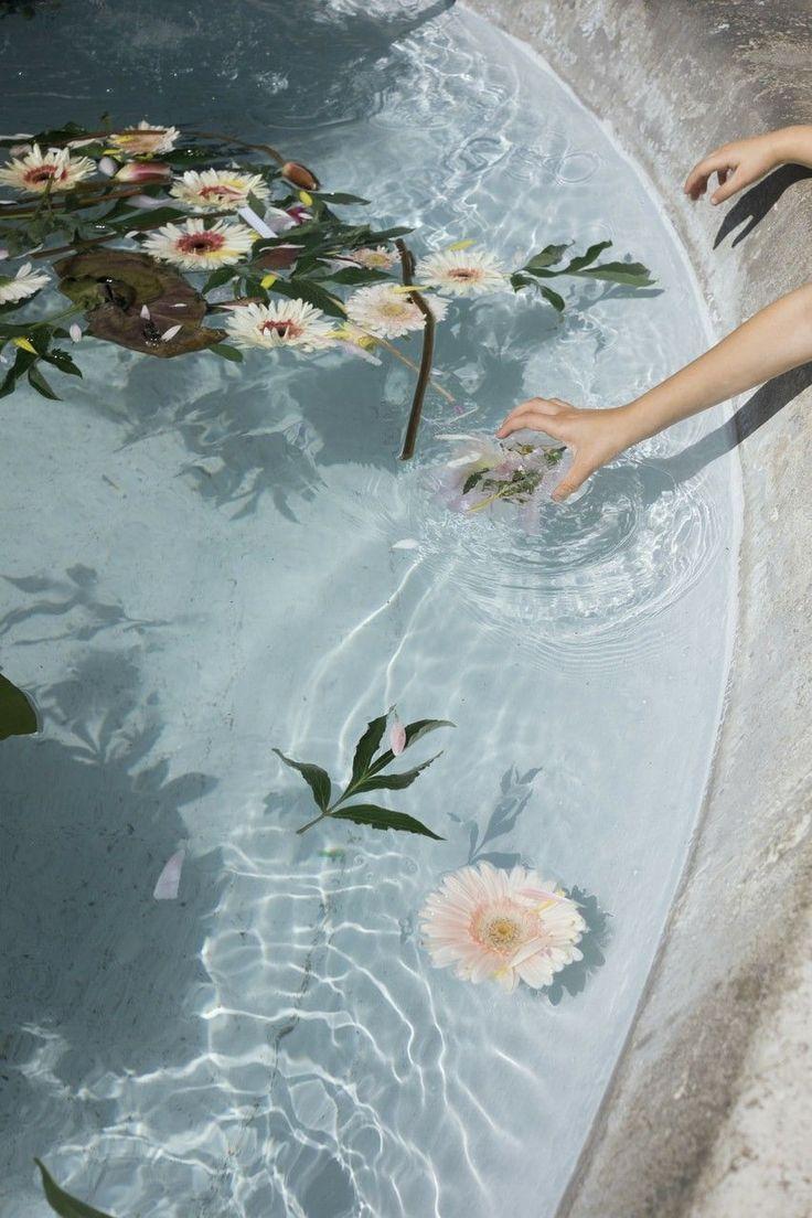 Bathtub Flowers In 2020 Light Blue Aesthetic Blue Aesthetic Pastel Pastel Aesthetic