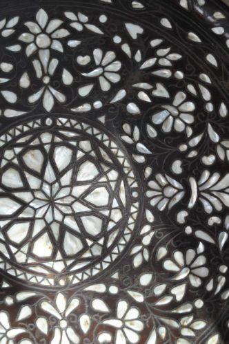 Islamic ANTIQUE OTTOMAN mother of pearl inlaid wood tray   eBay