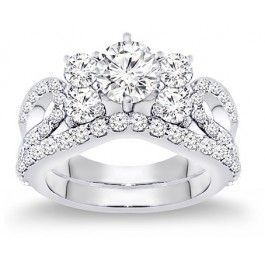 2.50 Carat Diamond Engagement Ring Set