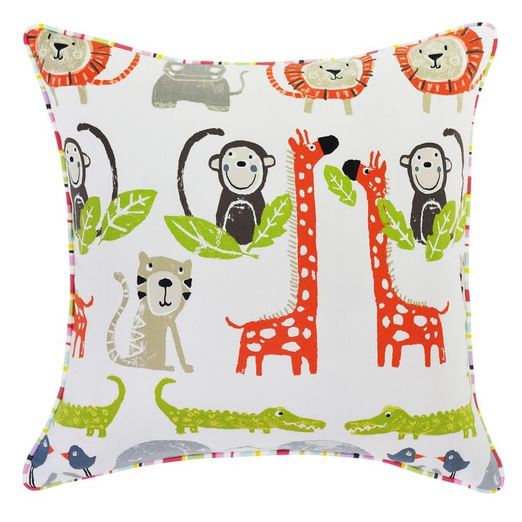 Snappy Orange Cushion with Ripley Pink Piping - 45x45cm