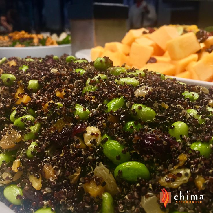 Hand-crafted Salads. No preservatives, ever! You're going to love our healthy Gluten Free Choices. Quinoa and Edamame Bean Salad.   #Steakhouse #Beef, #Brazilian #Chima #Delicious #Dining #Dinner #Food #Yummy #Foodie #GF #GlutenFree #Healthy #Meat, #PA #Philadelphia #Philly #PHL #Restaurant #Salad #Salad Bar, #Edamame  #Quinoa #NoPreservatives