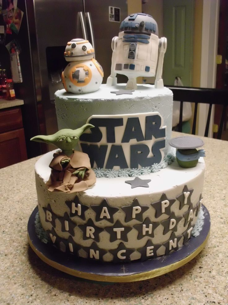 Star Wars Cake For Vincent S 6th Birthday R2d2 And Bb8