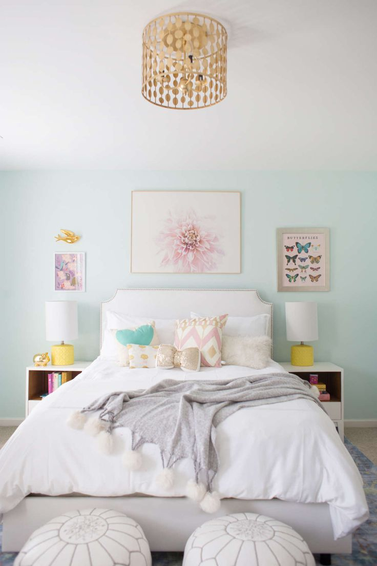 Blue And Yellow Little Girl Room