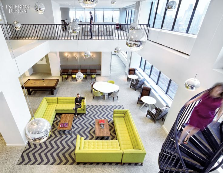 From INTERIOR DESIGN At McCann Erickson In Midtown New York Gensler Handled Four Levels By Including A Staircase