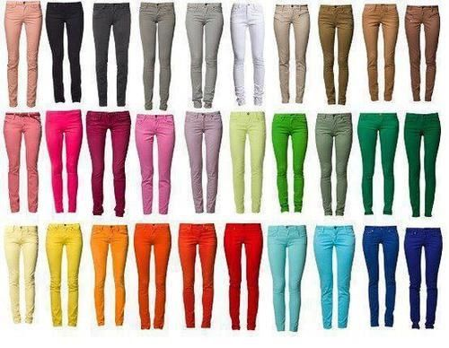 Colored Jeans...Some of them are a weird color, but others I want!!!