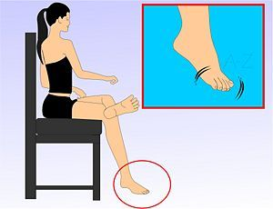 For Dancers: ankle exercises to help you better balance and keep stability...[all good, I don't think I would be able to use the balance board at my age...bg]