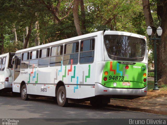 Ônibus da empresa Viação Piracema de Transportes, carro 94873, carroceria Busscar Urbanuss Pluss, chassi Volkswagen 15.190 EOD. Foto na cidade de Jaboticabal-SP por Bruno Oliveira, publicada em 27/12/2012 23:58:22.