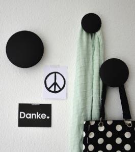 Coat rack The Dots medium, black