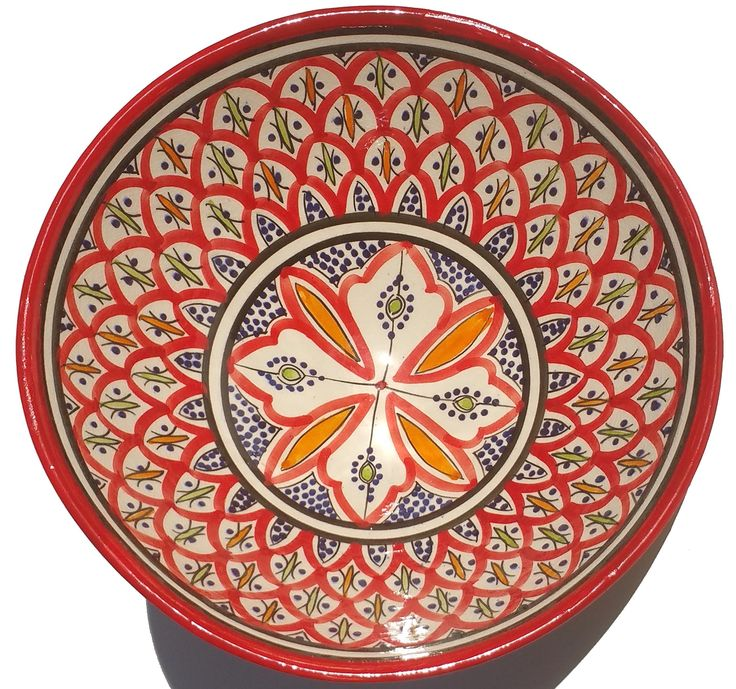 Moroccan 10 Inches Salad Bowl Serving Plate Pasta Bowl
