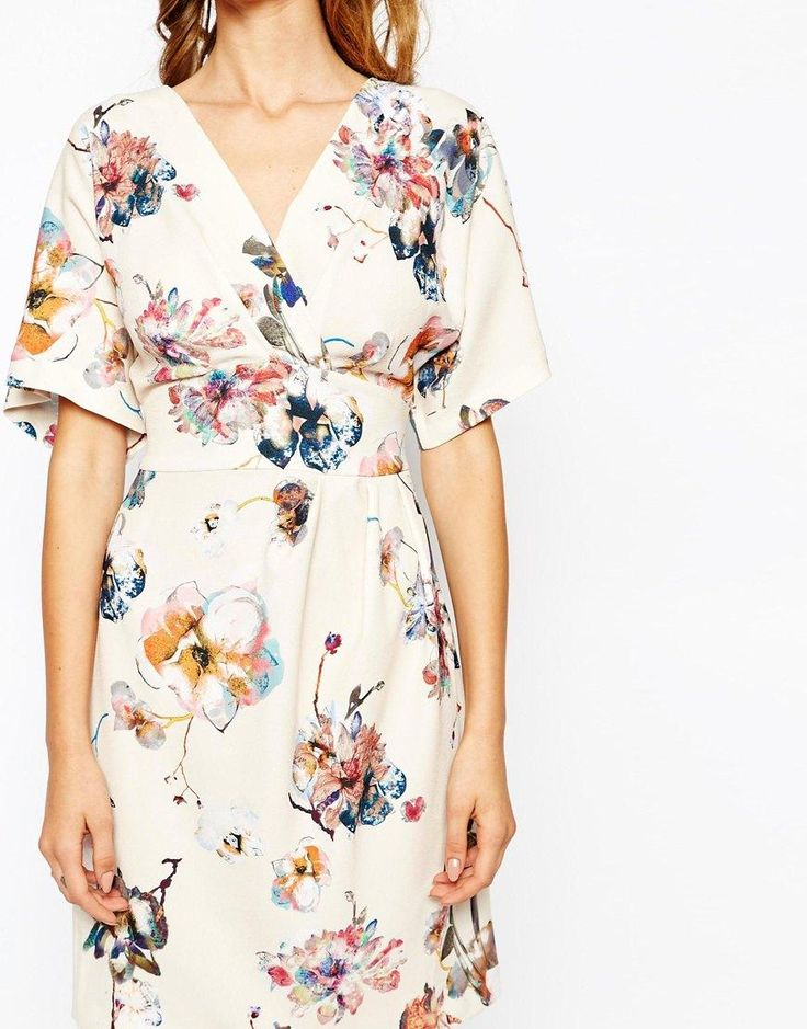 Closet | Closet Obi Wrap Belt Dress With Kimono Sleeve at ASOS