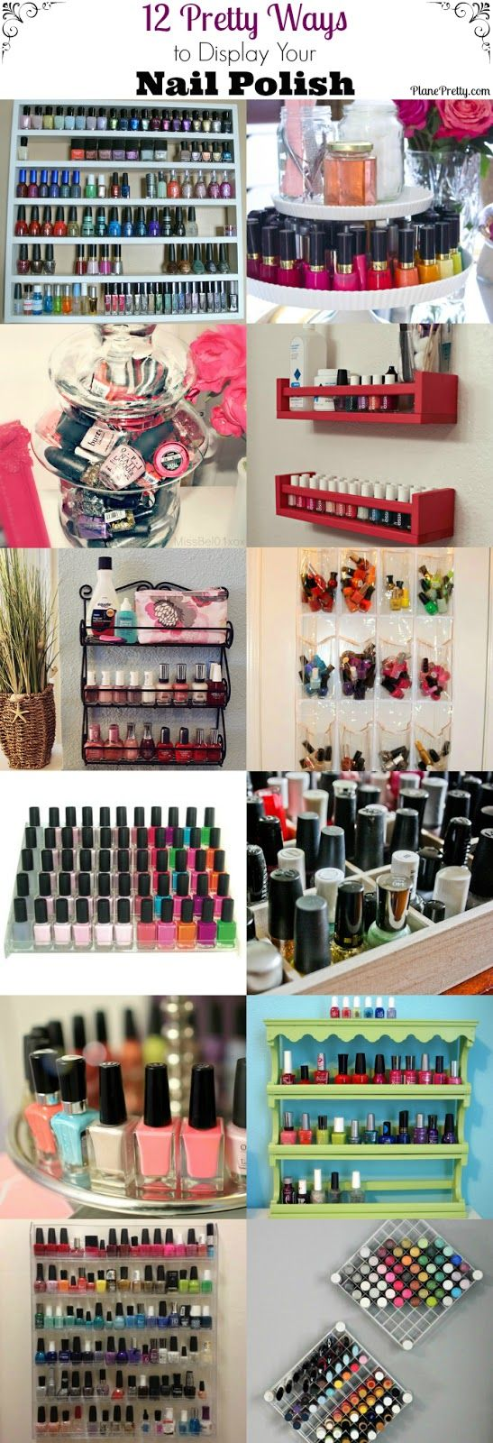nail polish organization, nail polish display... If I could only pick one...   via @angela4design