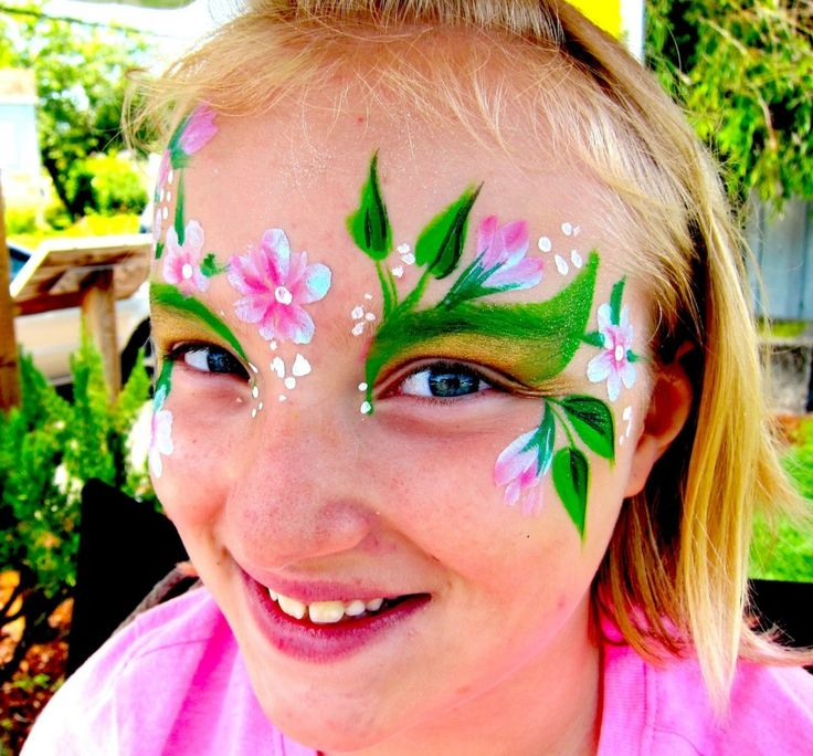 Easy Face Painting Flower images | fairylands | Pinterest ...