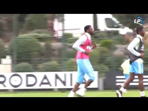 Arsenal old boy Abou Diaby looked rusty in Marseille training (Video)