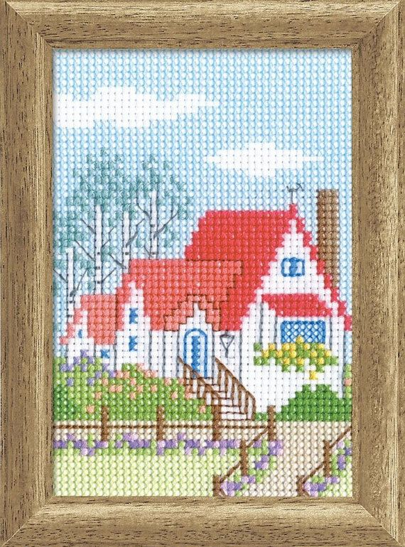 76 best Embroidery houses and buildings images on Pinterest ...