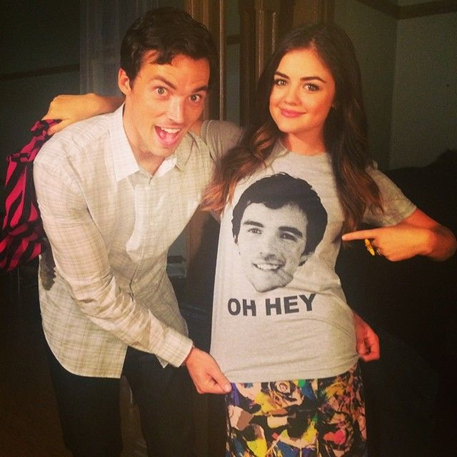 Pretty Little Liars stars Ian Harding and Lucy Hale are so cute!