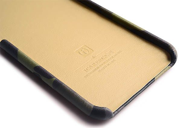 iCarer iPhone 6 Plus/6S Plus Camouflage Card Slot Back Cover Series Genuine Leather Case