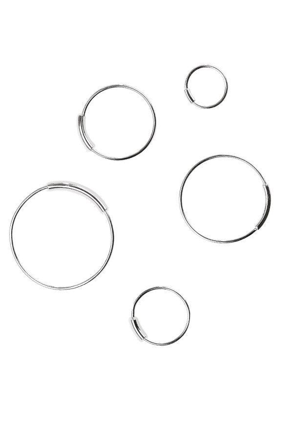 BASIC HOOP EARRINGS - SILVER