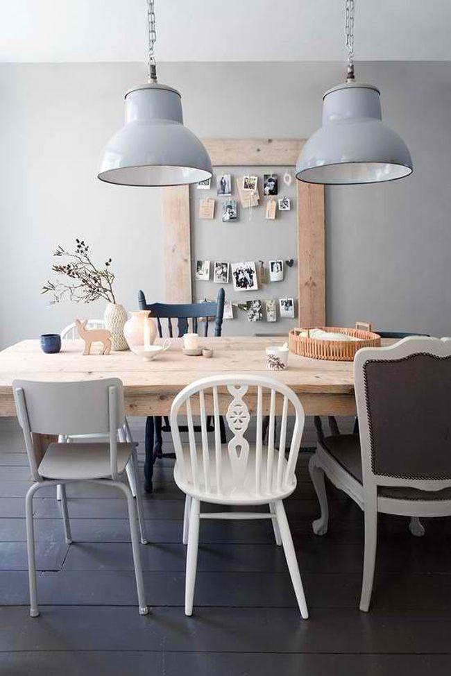 Mix de sillas | Estilo Escandinavo  #deco #decoracion #silla