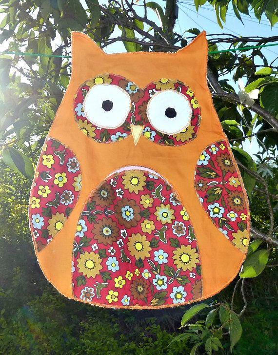 £4.99 Handmade peg bags peg bag hand made Owl by KelwayCraftsYorkshir